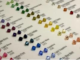 Farbkarte Perlen / Beads